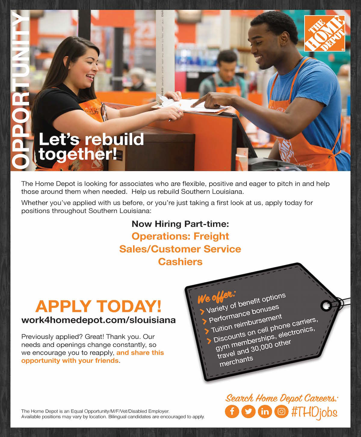 Employ Baton Rouge Home Depot